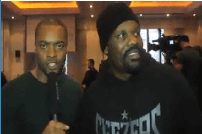 WATCH:  Chisora talks about why he threw furniture at Whyte